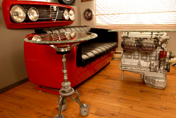 turbocharge your living room with car furniture car talk car news aug 2012. Black Bedroom Furniture Sets. Home Design Ideas