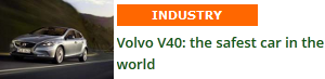 Volvo V40: the world's safest car